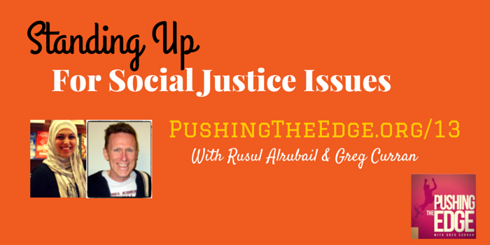 Promo for Podcast: Standing up for Social Justice Issues in the Classroom - Pushing The Edge Podcast