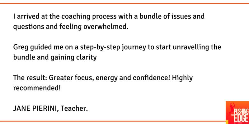 Testimonial from Jane Pierini - Pushing The Edge Consulting - Greg Curran