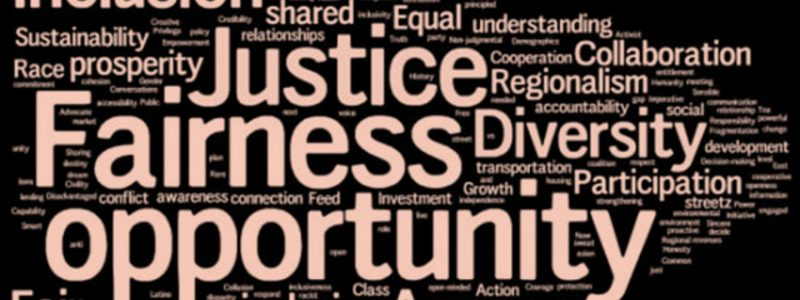 Stand with us for social justice - list of terms linked to such