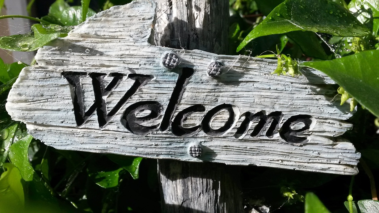 Welcome Sign - Feeling Welcome at School - Pushing The Edge BlogPost