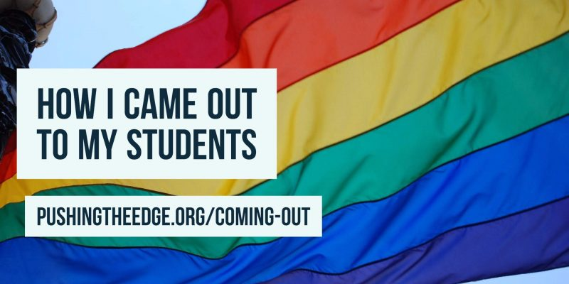 How I came out to my students