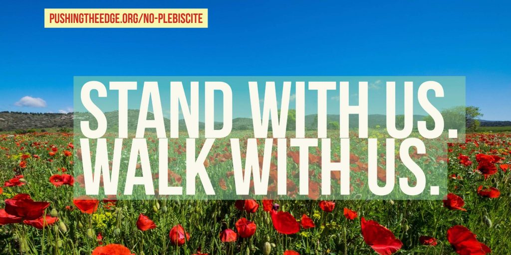 Stand with us. Walk with us